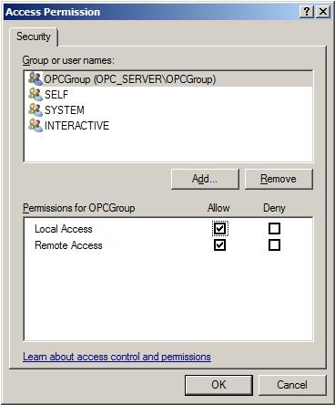 Remote OPC Data Access